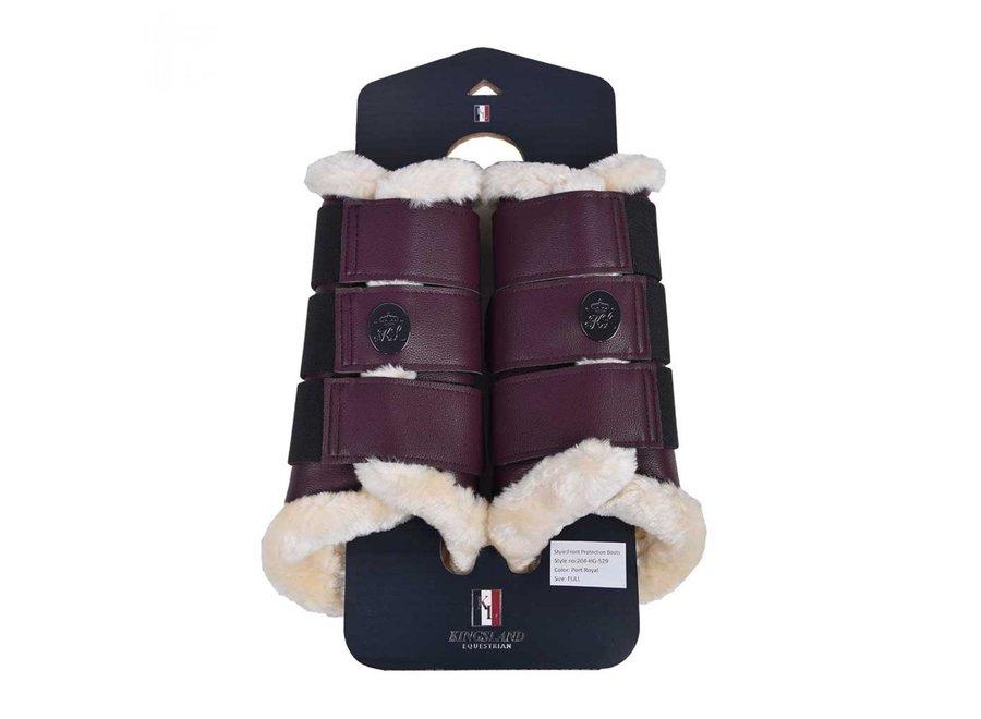 KL Indah Front Protection Boots Red Port Royal Full