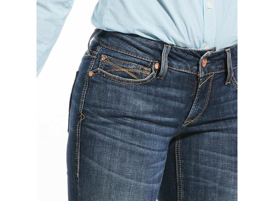 R.E.A.L. Mid Rise Stretch Julia Straight Jeans Arkansas