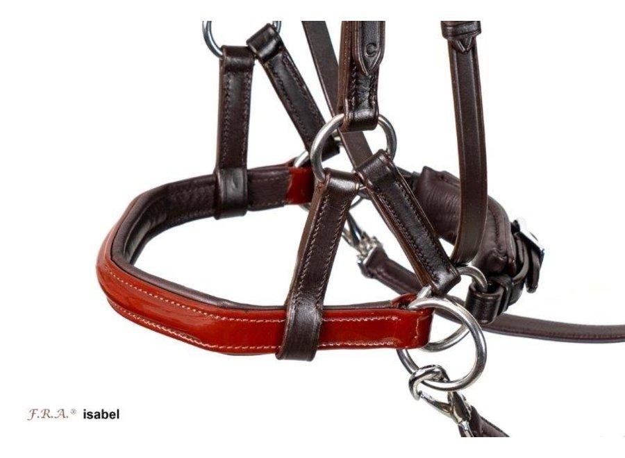 Isabel Side Pull lakleder - met softleder teugels met clips
