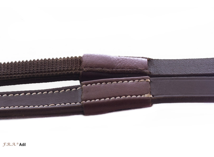 Adil teugel 15mm volleder/griprubber met clips 300cm zwart