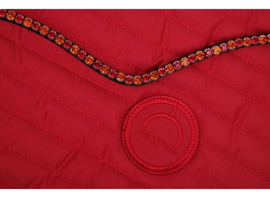 Frontriem Fair Curved Red Crystal