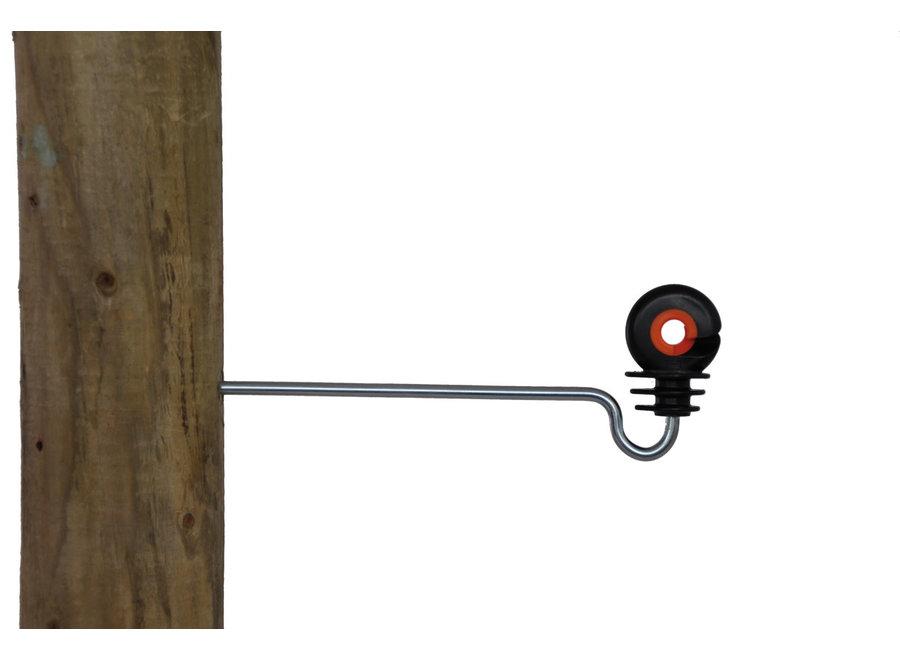 Afstandschroef-ringisolator XDI hout gebogen 18cm (per 10)
