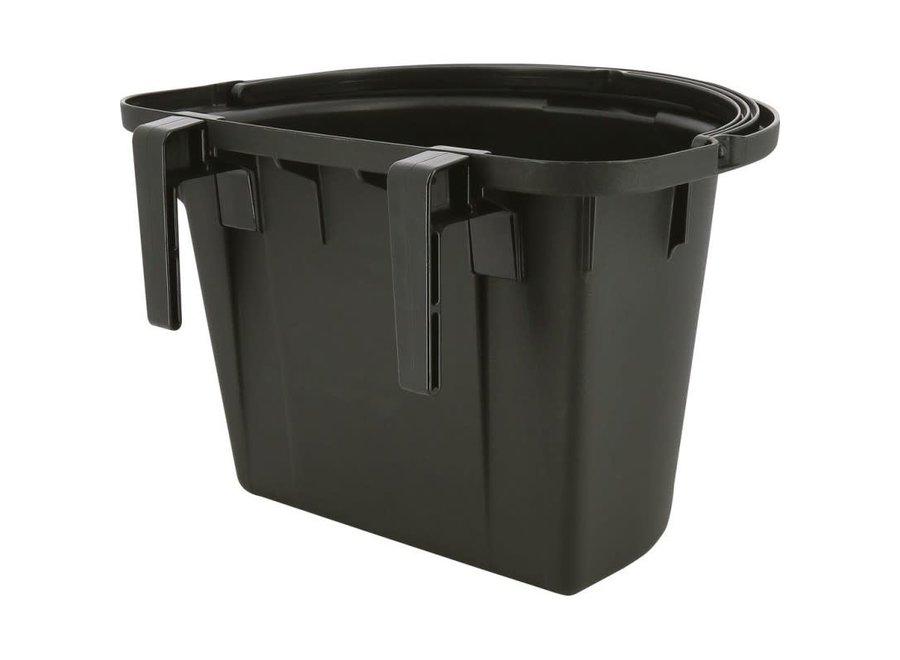 Deurvoerbak met handvat zwart