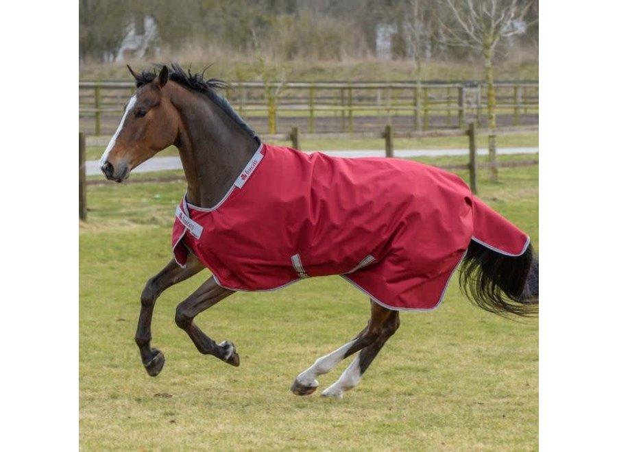 Regendeken Pony Irish Turnout Light 115/160 Ruby