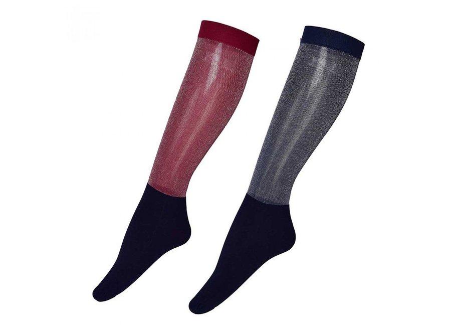 KL Joan ladies Glitter Show Socks per 2 paar