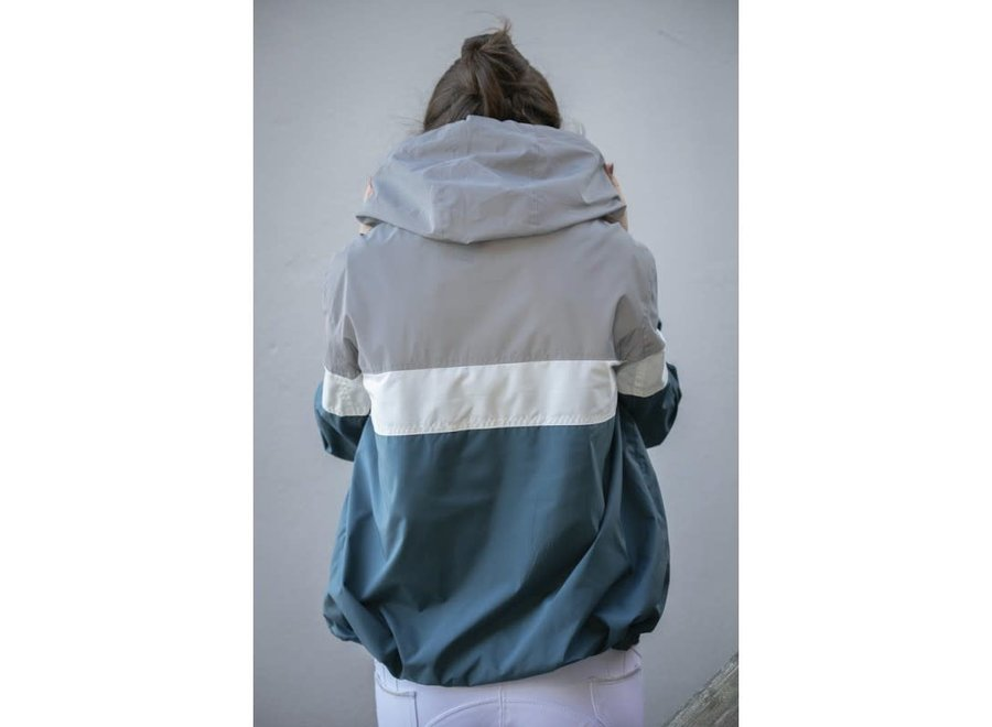 Celecce Windbreker Jacket Bleu Canard