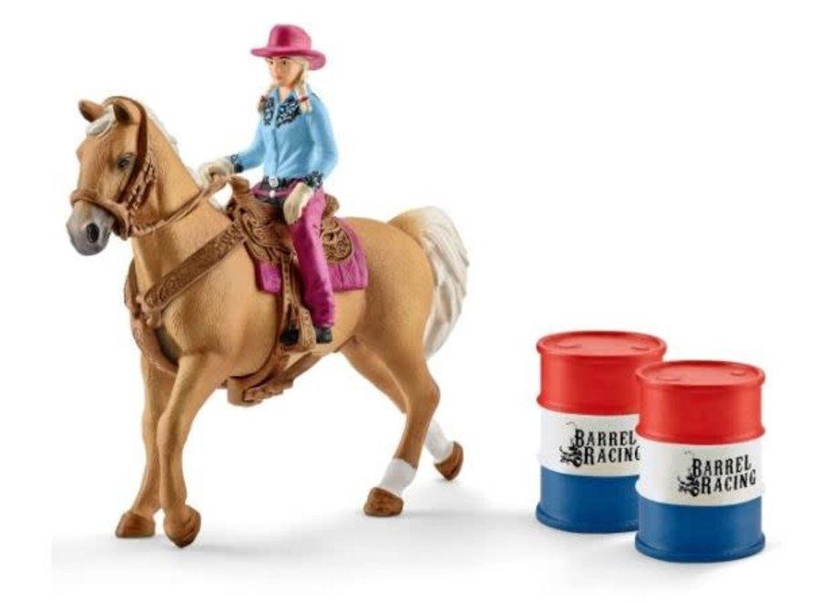 Barrel Racing met Cowgirl