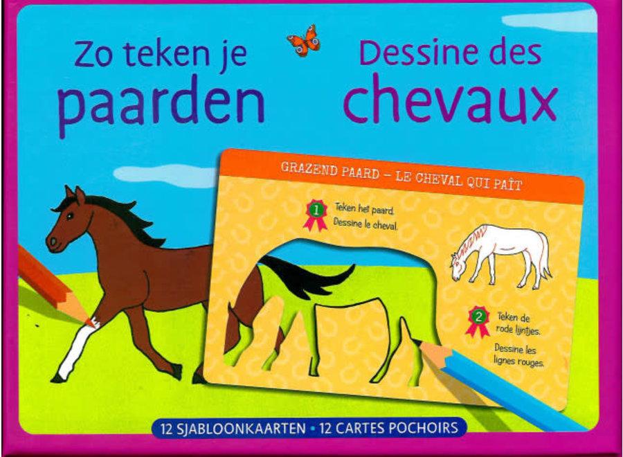 Zo teken je paarden, 12 sjabloonkaarten