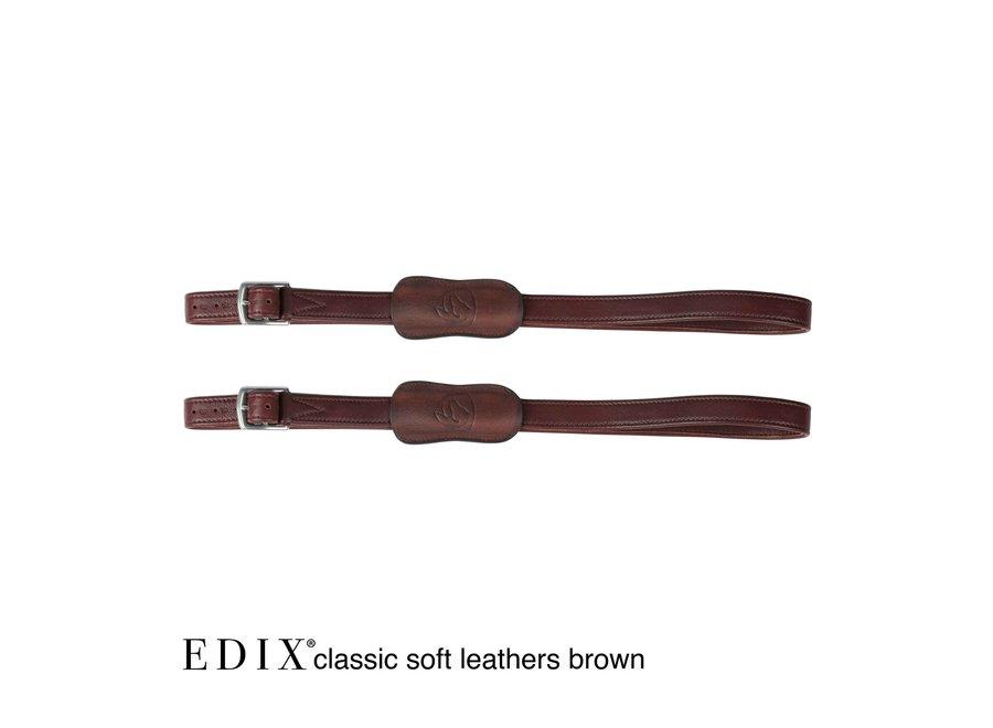 Beugelriemen Classic Soft leder bruin