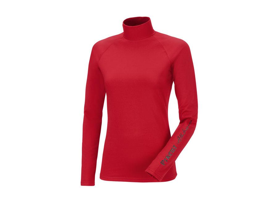 Abby Roll Neck Shirt Scarlet