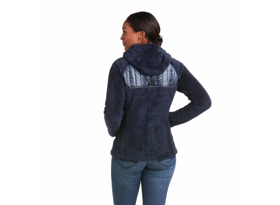 Coalesce Full Zip Hoodie Sweatshirt Dark Sapphire