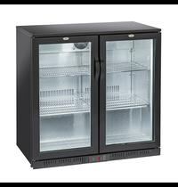 Gastro-Inox Gastro-Inox bardisplay met 2 klapdeuren   200 liter   Statisch gekoeld met ventilator   900x520x865(h)mm