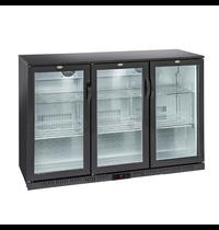 Gastro-Inox Gastro-Inox bardisplay | Met 3 glasdeuren | 320  liter | 1350x520x865(h)mm