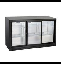 Gastro-Inox Gastro-Inox bardisplay | 302 liter | Met 3 schuifdeuren  | 1335x526x865(h)mm
