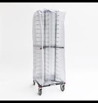 Jackstack Jackstack plastic cover | Voor verrijdbare bordenrek JS072/JS088/JS104 | Met 4 verticale ritsen | 600x600x1500(h)mm