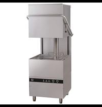 Gastro-Inox Horeca vaatwasser doorschuif |  500x500mm mand  | Geheel RVS  | 400V | 750x880x1830(h)mm