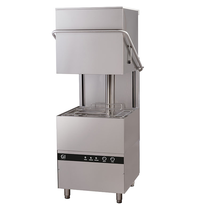 Gastro-Inox Doorschuifvaatwasser | Mand 500x500mm | Zeeppomp | Naglanspomp | 750x880x1830(h)mm
