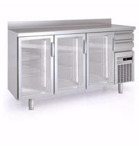 Coreco Barkoelkast Coreco FMRV-200 3 deurs   504 liter   Met 3  glasdeuren   2005x600x1040/1134(h)mm