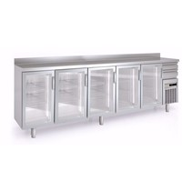 Coreco Barkoelkast Coreco FMRV-350 | Met 5 glasdeuren | 863 liter  | 3070x600x1040/1134(h)mm