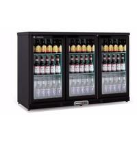 Coreco Barkoelkast Coreco ERH 350 Zwart | 305 liter | Met 3 glasdeuren | 1375x520x850(h)mm