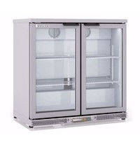 Coreco Barkoelkast Coreco ERH-I 250 RVS  | 200 liter | Met glazen deuren| 925x520x850(h)mm