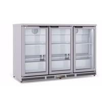 Coreco Barkoelkast Coreco ERH -I 350 RVS  | 305 liter | Met 3 glasdeuren| 1375x520x850(h)mm