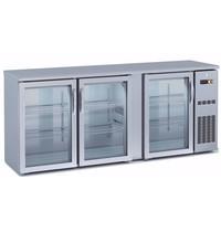 Coreco Barkoelkast Coreco SBIE 200 3 deurs RVS | 490 liter | Met 3 glasdeuren | 2005x530x820/880(h)mm