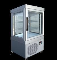 Tekna Tekna Vitrine 0044 PV Aluminium | 2 roosters 510x440 | 210 liter | 4 zijden glas | 670x640x1260(h)mm