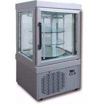 Tekna Tekna Vitrine 0044 PV Aluminium | 3 roosters roterend glas Ø 496mm | 210 liter | 4 zijden glas | 670x640x1260(h)mm