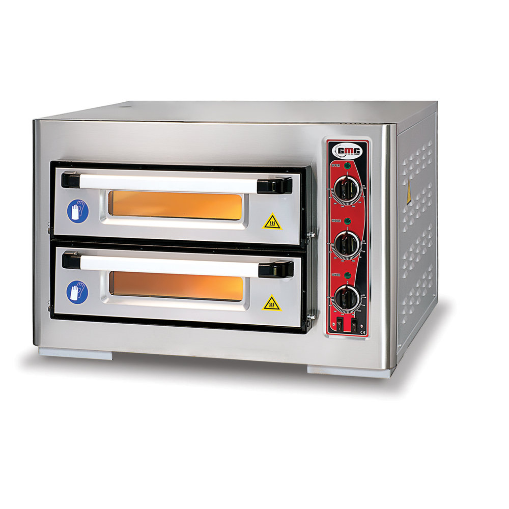 GMG Pizzaoven    4+4 25Øcm    2 Kamers   6 kW   800x730x520(h)mm