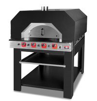 GMG GMG Pizzaoven |  1x9 Ø 30cm | 1 Kamer | 34 kW | 1290x1510x800(h)mm