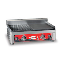 GMG GMG Contactgrill/Panini Grill  | 1/2 Geribd / 1/2 Glad 52x24cm | 2,2kW | 540x330x240(h)mm