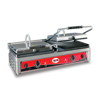 GMG GMG Contactgrills/Panini grills | Bovenplaat geribd en glad / Onderplaat glad 36x27cm | 2,5kW | 820x500x300(h)mm