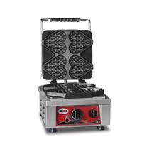 GMG GMG Wafelijzer | Wafel grootte 4x 13,2x12,5x2,8cm | 2,2 kW | 300x440x320(h)mm