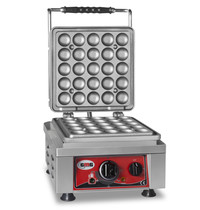 GMG GMG Wafelijzer | Wafel grootte 1x Ø 25x4,2cmx1,2/2,4cm | 2,2 kW | 300x440x320(h)mm