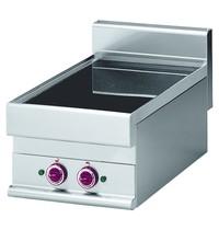 Diamond Elektrische vitrokeramische plaat met 2 kookzones Top | 1x 2,1 kW/h & 1x 2,5 kW/h | 400x650x280/380(h)mm