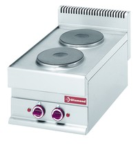 Diamond Fornuis elektrisch met 2 ronde kookplaten Top | 5,2 kW/h | 400x650x280/380(h)mm
