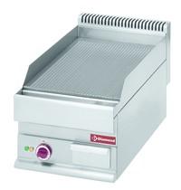 Diamond Bakplaat/Grillplaat -Top- | Geribd 395x520mm 20,5 dm2 | 4,5kW | 400x650x280/380(h)mm