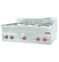 Diamond Fornuis elektrisch 5 kookplaten Top   5x 2kW/h   900x600x250/400(h)mm