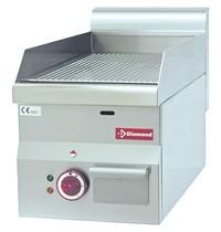 Diamond Bakplaat/Grillplaat -Top- | Geribd 295x470mm 14 dm2 | 3kW | 300x600x280/400(h)mm