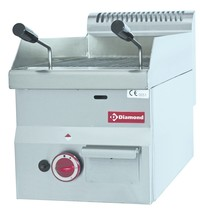 Diamond Lavasteengrill gas met brandrooster in gietijzer Top | Kcal. 3850 | 300x600x280/400(h)mm