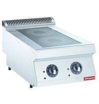 Diamond Elektrische inductie kookplaat met 2 zones Top | 2x 3,5 kW/h | 400x700x250/320(h)mm