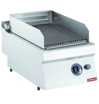 Diamond Lavasteengrill gas - rooster in gietijzer 1/2 module Top | Kcal 6020 | 400x700x250/320(h)mm