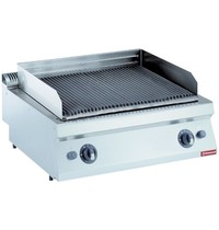 Diamond Lavasteengrill gas 1 module 'rooster in gietijzer Top | Kcal 12040 | 800x700x250/320(h)mm