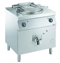 Diamond Kookketel rond op gas met onderstel en directe verwarming | 60 liter | 0,2 kW/h | 800x700x850/920(h)mm