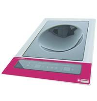 Diamond Inductieplaat 'wok' inbouwbaar | Met tactiele toetsen | 3,6 kW/h | 390x430x160(h)mm