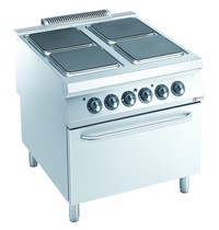 Diamond Fornuis elektrisch met 4 platen en elektrische oven | 22 kW/h | 800x900x850/920(h)mm