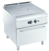 Diamond Fornuis met doorkookplaat 10,5 kW/h | Met gas oven 8,5 kW/h - GN 2/1 | 800x900x850/920(h)mm