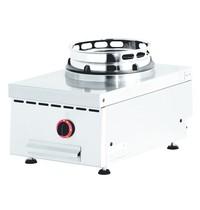 Diamond Wok gasvuur tafelmodel, 1 vuur | 13 kW/h | 400x600x280/325(h)mm