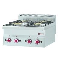 Diamond Gasfornuis 4 branders Top | 2x 3,3 kW/h & 2x 3,6 kW/h | 600x600x280/400(h)mm